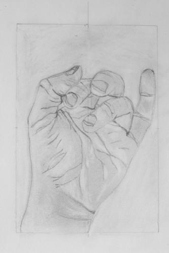 Hand, Ben Curtis drawing