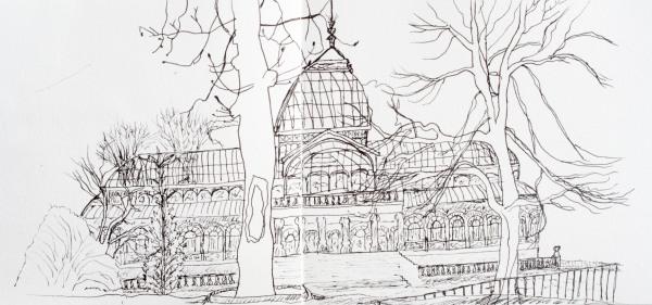 Palacio de Crystal Sketch, Retiro, Madrid
